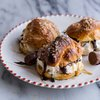 No-Churn Caramel Peanut Butter Cup Soft Pretzel Ice Cream Sammies w/Hot Fudge. - Half Baked Harvest