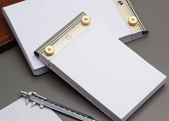 Metal-Backed Refillable Paper Note Pad