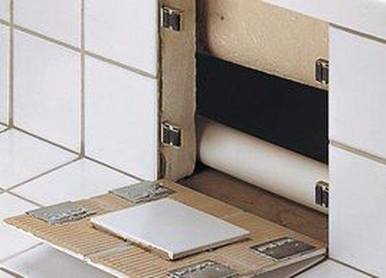 Secret Tile Wall Compartment Brackets   StashVault