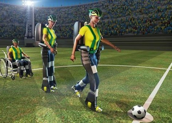 Human In Robotic Exoskeleton To Kick Off The World Cup | Popular Science