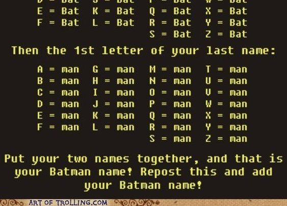 What is Your Batman Name?