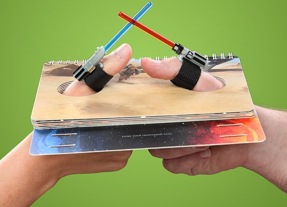 Star Wars Thumb Wrestling Kit Has You Fighting With Small Lightsabers