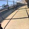 Car-bike collision on Norfolk's pedestrian access bridge adjacent to the Berkley bridge - YouTube