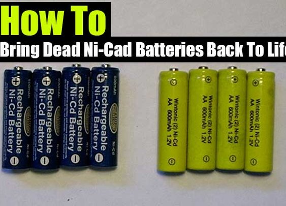 How To Bring Dead Ni-Cad Batteries Back To Life - SHTF Preparedness