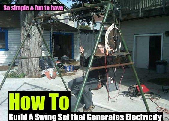 A Swing Set that Generates Electricity - SHTF Preparedness