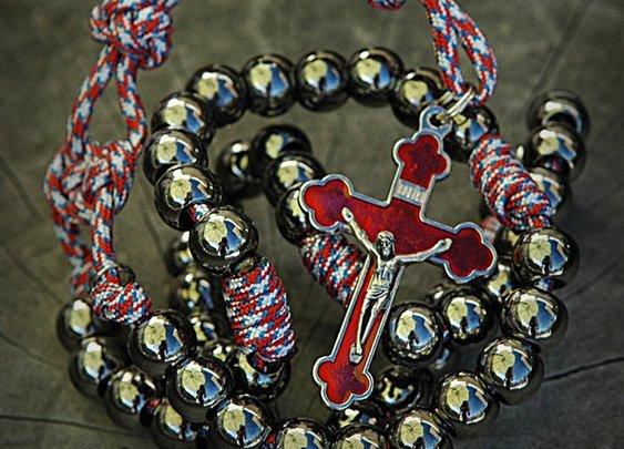Paracord Rosaries for men.