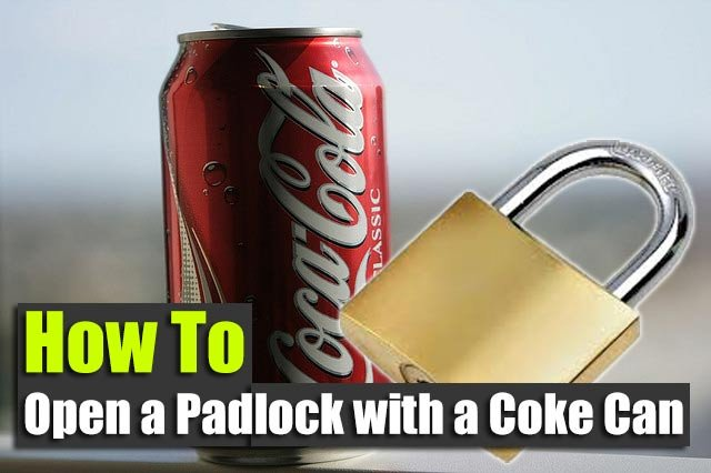 How to open a padlock with a coke can shtf preparedness for Coke can heater