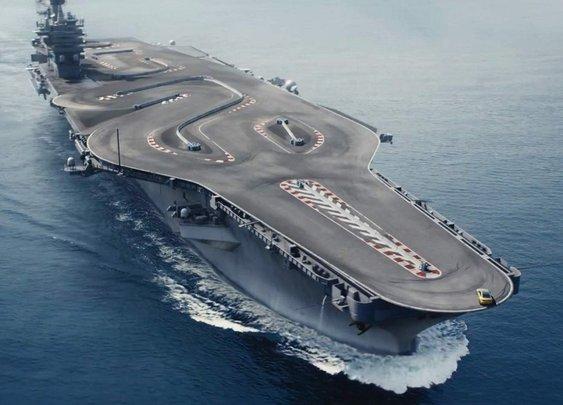 BMW Built A Race Track On An Aircraft Carrier