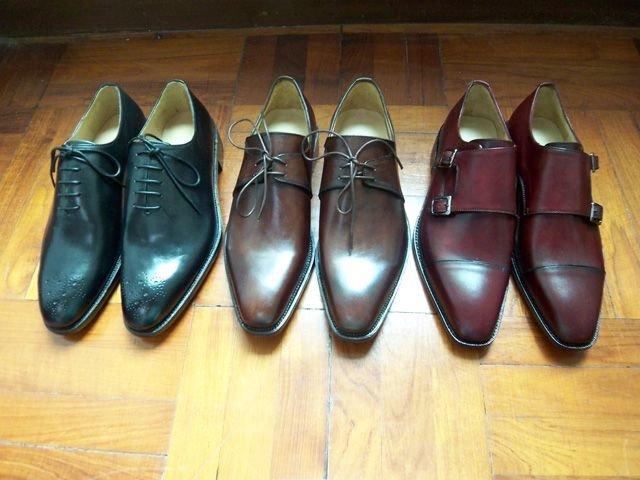 light shine on a new shoe