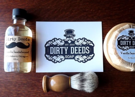 Men  Gift Shaving Kit with aftershave Shaving by DirtyDeedsSoaps