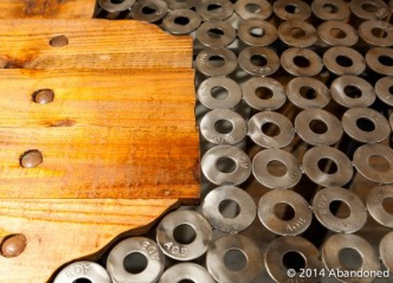 Abandoned   Handcrafted Salvaged Metal Table - Abandoned