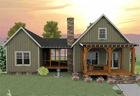 Plan W92318mx Mountain Cottage Vacation Photo Gallery