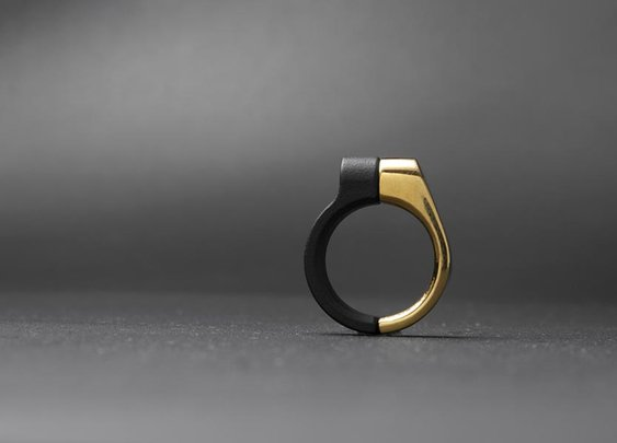 Rings Inspired By Pipe Clamps | Cool Material