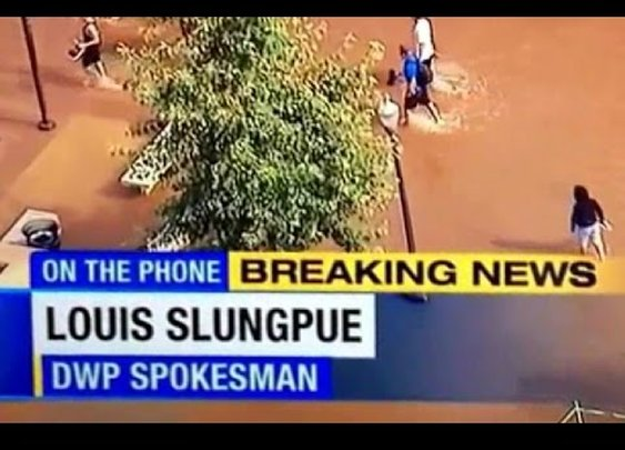 ABC news gets punked, we had a water main break at UCLA today, priceless :)