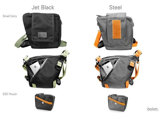 bolstr - The Ultimate EDC Bag. Minimal and Perfectly Sized