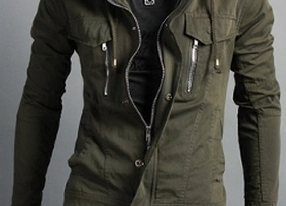 Men's Causal Short Jacket with High Collar