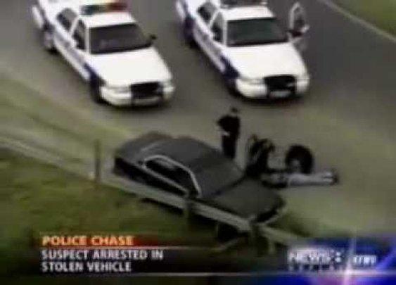 Cop Tasers Himself