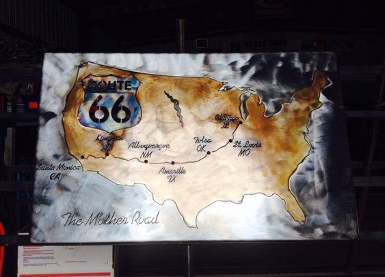 Route 66 wall clock