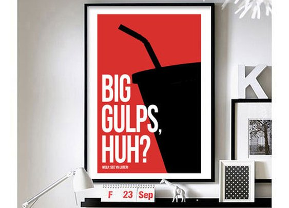 "Dumb & Dumber 'Big Gulps' - 11"" x 17"" wall art"