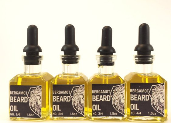 Bergamot Beard Oil in Vintage Dropper Bottle. by SoapboxGypsy