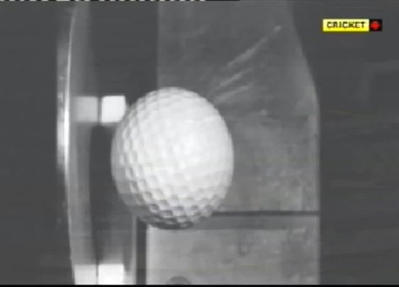 Slow Motion: Golf ball hitting steel. [VIDEO]