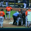 Giancarlo Stanton hit in face with pitch