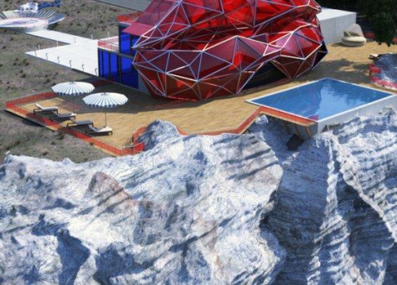vasily klyukin visualizes extravagant villas