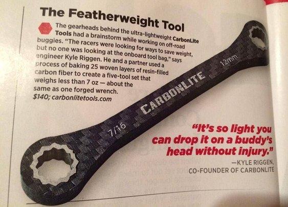 CabonLite Tools in Men's Journal!
