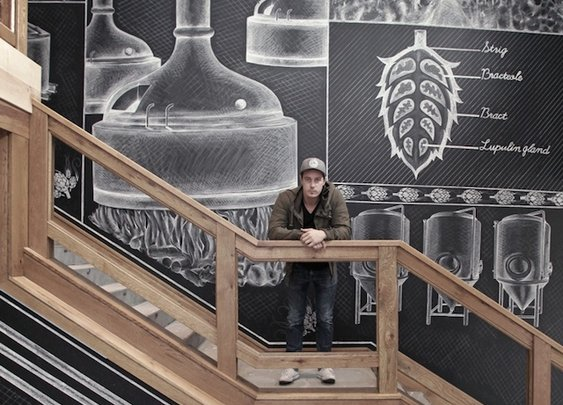 Chalk mural - perfect interior design