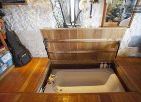 Hot Tub Hidden Under Floor   StashVault