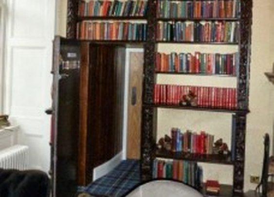 Delightful Secret Faux Bookcase Door In Castle | StashVault
