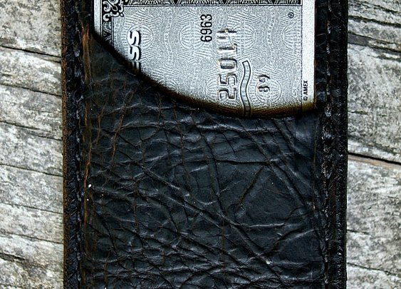 Genuine American Bison Vvault Front Pocket Wallet - Vvego