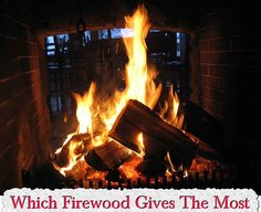Which Firewood Gives The Most Heat - BTU Rating Chart - LivingGreenAndFrugally.com