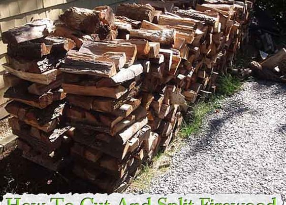 How To Cut And Split Firewood - LivingGreenAndFrugally.com
