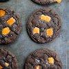 Dark Chocolate Salted Caramel Cookies Recipe - She Wears Many Hats