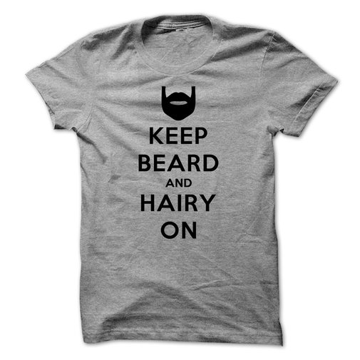 Keep Calm and Hairy On (Black)