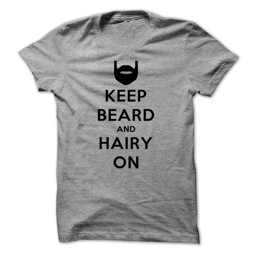 Keep Calm and Hairy On (Black)