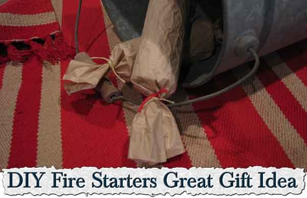 DIY Fire Starters Great Gift Idea - LivingGreenAndFrugally.com