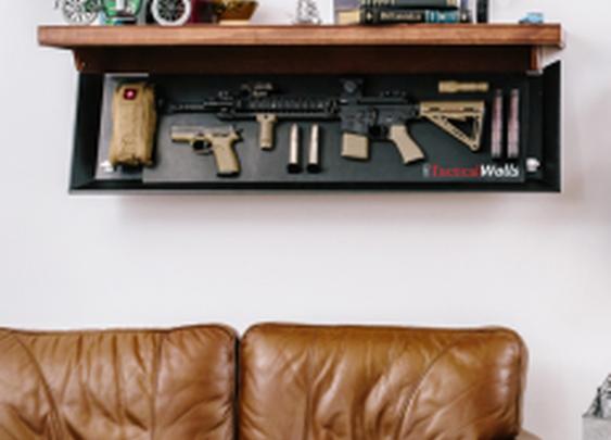 TacticalWalls Hidden Gun Storage Shelf   StashVault