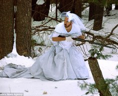 Man finds over 100 creative ways to use ex-wife's wedding dress