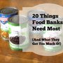 What Food Banks Need Most