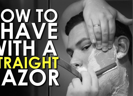 How to Shave with a Straight Razor | AoM Instructional - YouTube