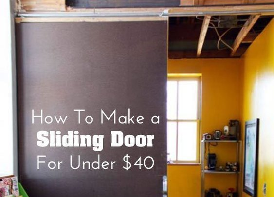 How To Make a Sliding Door for Under $40