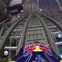 Motorcyclist Julien Dupont drives on Mexico City's Montana Rusa roller coaster