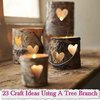 23 Craft Ideas Using A Tree Branch - LivingGreenAndFrugally.com