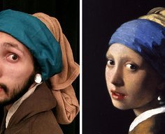 Two Bored Coworkers Recreate Famous Paintings Using Their Office Supplies | Bored Panda