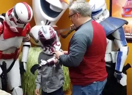 Augusta boy gets new 'trooper' arm