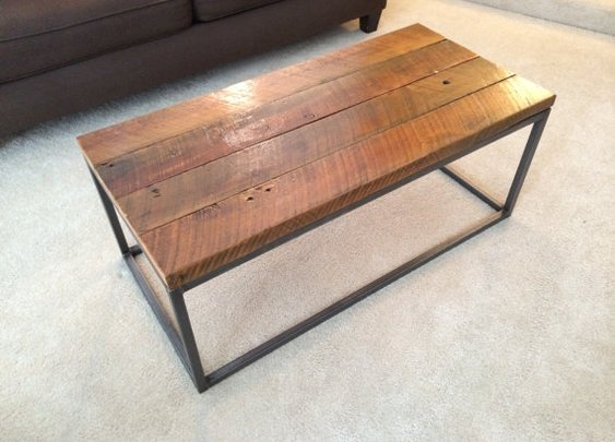 Reclaimed Cedar Wood Top Coffee Table  Handmade in by MotorStreet