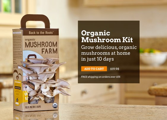 Back to the Roots   Free Shipping on AquaFarm & Mushroom Kit