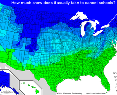 How much snow it takes to cancel school